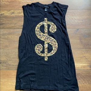 Forever 21 Cheetah muscle tank